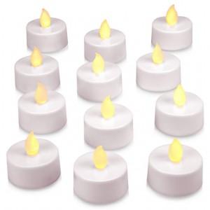 Dekorativní LED sada - 12 čajové svíčky - teple bílá