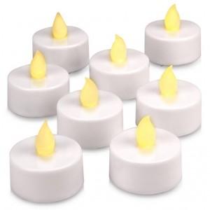 Dekorativní LED sada - 8 čajové svíčky - teple bílá