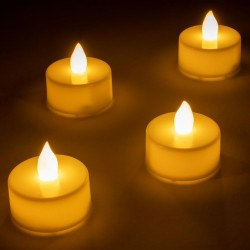 Dekorativní LED sada - 4 čajové svíčky - teple bílá