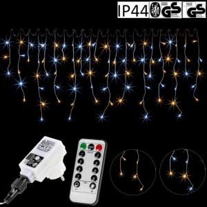 VOLTRONIC světelný déšť - 200 LED, teplá/studená bílá