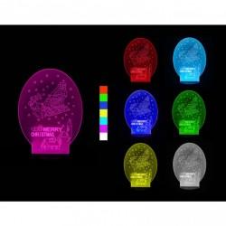 3D LED lampa - Vánoční sáně