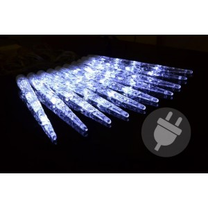 Vánoční osvětlení - rampouchy, studená bílá, 8 funkcí