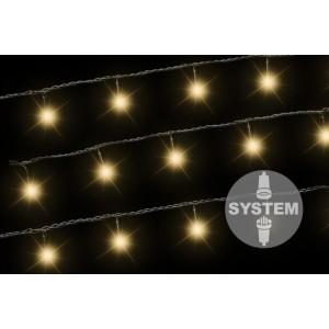 diLED světelný řetěz - 100 LED, teple bílý, bez trafa