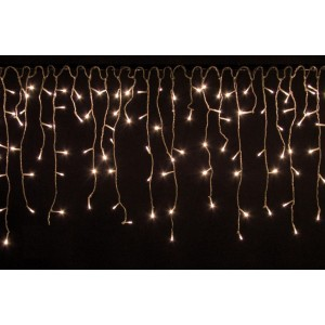 Vánoční světelný déšť - 10 m, 400 LED, teple bílý