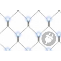 Světelná síť s LED diodami - 3x3m, 128 LED, studená bílá