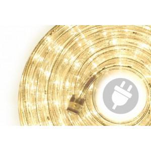 LED světelný kabel - 480 diod, 20 m, teple bílý