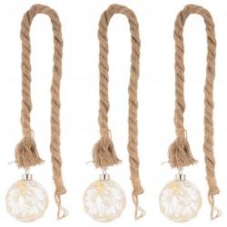 Sada LED světelné koule na laně, 20 LED, teple bílá, 3 ks